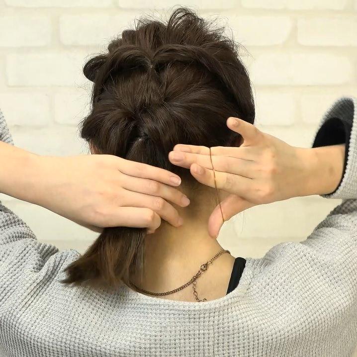 くるりんぱとたまねぎヘアで作る!爽やかなダウンヘア5