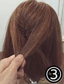 くるりんぱで簡単!ショートヘアのためのハーフアップアレンジ3