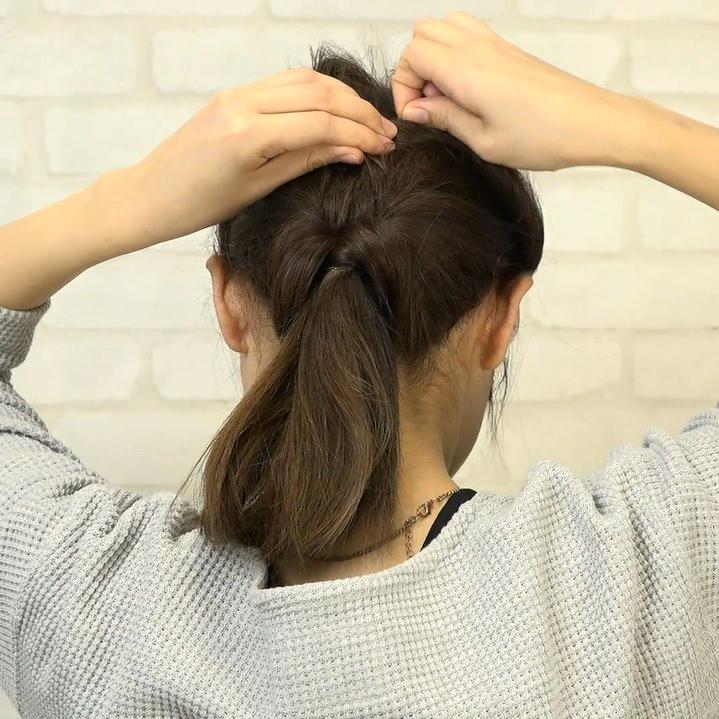 くるりんぱとたまねぎヘアで作る!爽やかなダウンヘア4