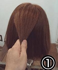くるりんぱで簡単!ショートヘアのためのハーフアップアレンジ1