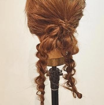 ロープ編みだけで出来る簡単まとめ髪アレンジ5