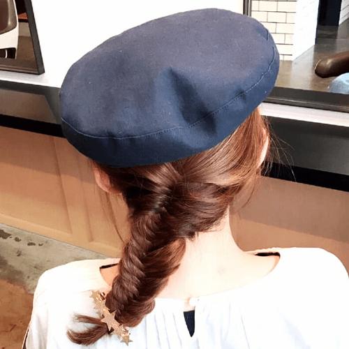 キャスケット×フィッシュボーンのおしゃれカジュアルヘア☆4