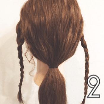 好感度UP♪おしとやかな雰囲気の三つ編みローポニー☆2