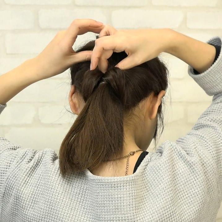 くるりんぱとたまねぎヘアで作る!爽やかなダウンヘア3