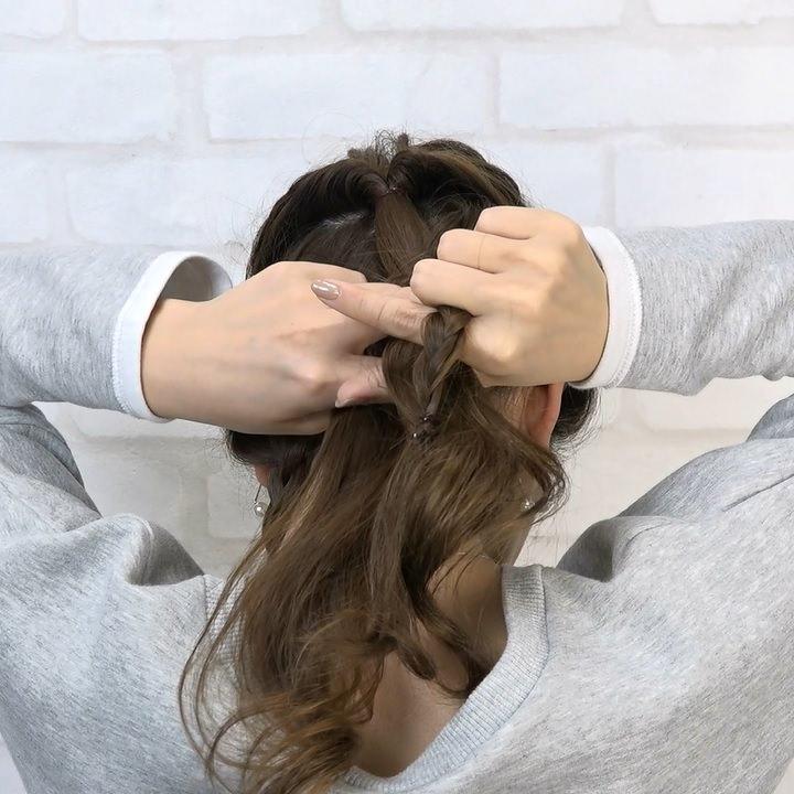 女子会にはコレ♪ねじりアップヘアー4
