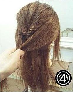 ダブルくるりんぱでつくるまとめ髪4