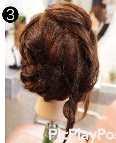 手毬のような立体的で可愛いまとめ髪アレンジ3