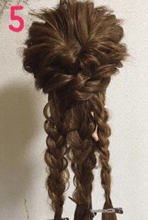 毛束感がリッチな編み込みアレンジ5