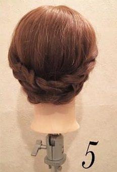 ロープ編みで♪乙女なまとめヘア5