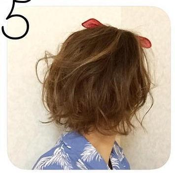 短くてもできる☆夏のバンダナアレンジ5