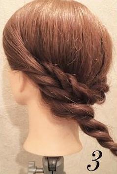 ロープ編みで♪乙女なまとめヘア3
