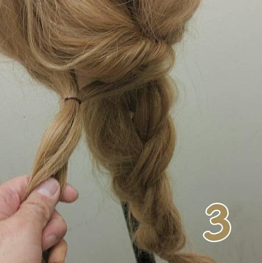 あっという間に♪お上品な三つ編みスタイル3