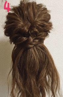 毛束感がリッチな編み込みアレンジ4