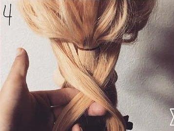 髪を縛る!?編み込み不要のポニーテールアレンジ4