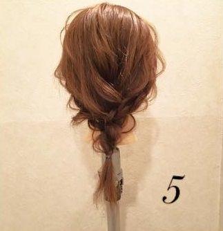 大人フェミニンな三つ編みアレンジ♪5