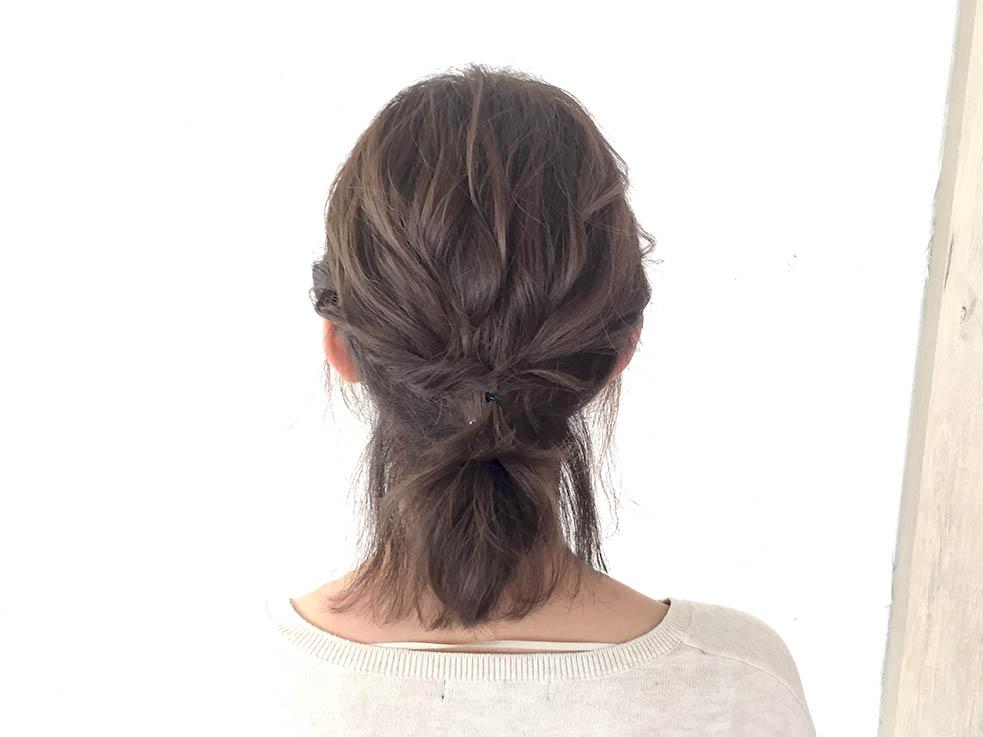 短い髪でつくれる☆ローポニーテール4