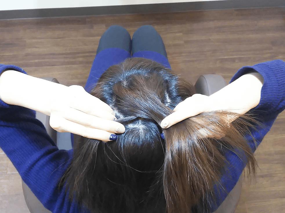 伸ばしかけヘアに使える♪お手軽編み込みハーフアップ2
