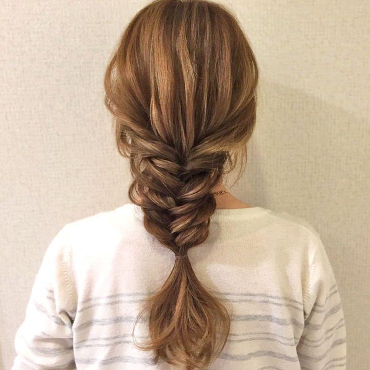 普通の編み込みとは少し違う☆フィッシュボーンの編み下ろしヘアTOP
