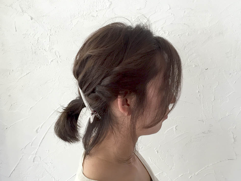 短い髪でつくれる☆ローポニーテール3