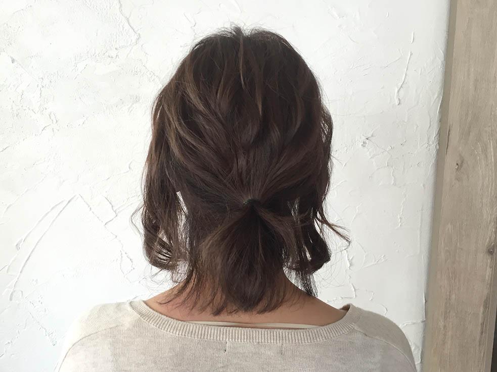 短い髪でつくれる☆ローポニーテール2