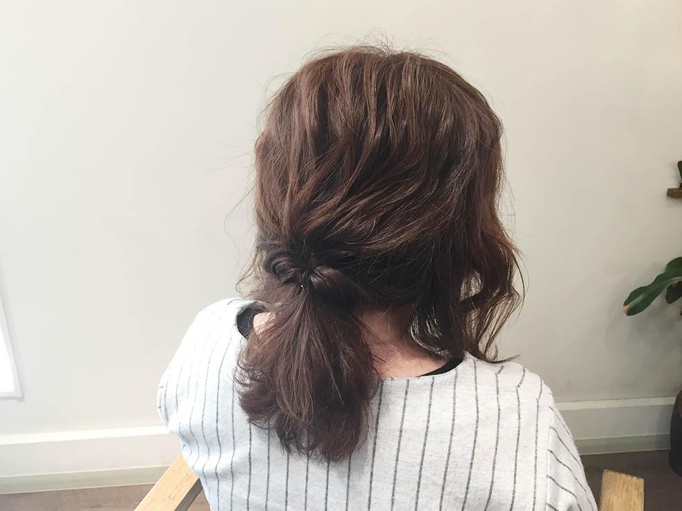 5分で完成!簡単くるりんぱアレンジまとめ髪5