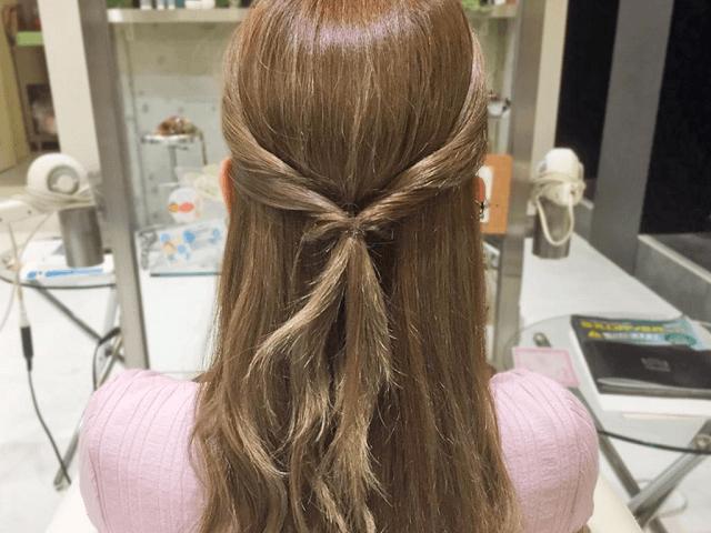 モテ髪♪暑い夏にもぴったりの涼しげシニヨンアレンジ2