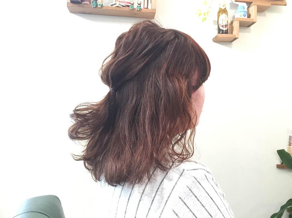 5分で完成!簡単くるりんぱアレンジまとめ髪3