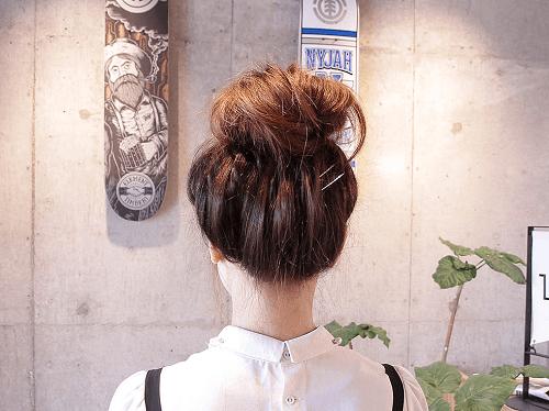 リブハイネックに似合うヘアスタイル1-1