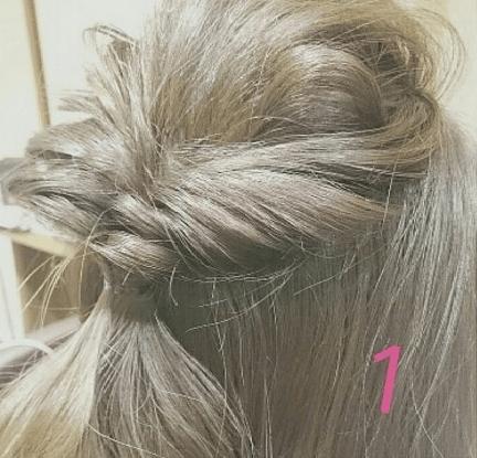 外国人風まとめ髪の作り方☆1