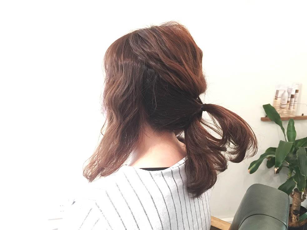 5分で完成!簡単くるりんぱアレンジまとめ髪4