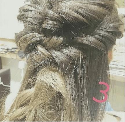 外国人風まとめ髪の作り方☆3