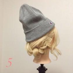 ニット帽にぴったり☆三つ編みで作るこなれまとめ髪top