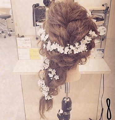 振袖にぴったり☆編み込みヘア8