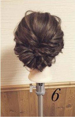 ねじってかわいい♡片寄せまとめ髪6