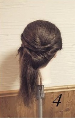 ねじってかわいい♡片寄せまとめ髪4