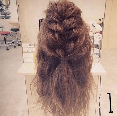 振袖にぴったり☆編み込みヘア1
