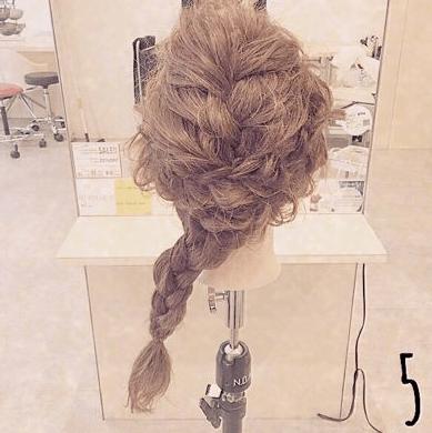 振袖にぴったり☆編み込みヘア5