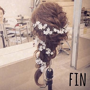 振袖にぴったり☆編み込みヘア9