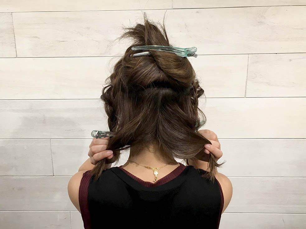 飾り付きのヘアゴムでヘアアレンジ☆5