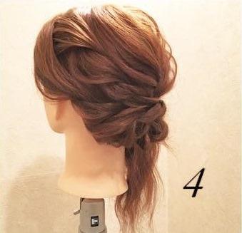 ミディアムヘアでもできる♪上品まとめ髪4