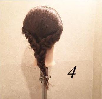初心者さんにおすすめ☆三つ編みだけの簡単編みおろし4