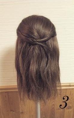 ねじってかわいい♡片寄せまとめ髪3