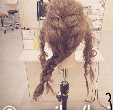 振袖にぴったり☆編み込みヘア3