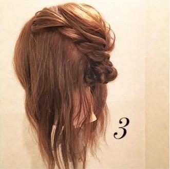 ミディアムヘアでもできる♪上品まとめ髪3