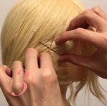 ニット帽にぴったり☆三つ編みで作るこなれまとめ髪3