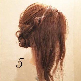 ミディアムヘアでもできる♪上品まとめ髪5