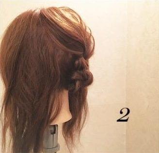 ミディアムヘアでもできる♪上品まとめ髪2