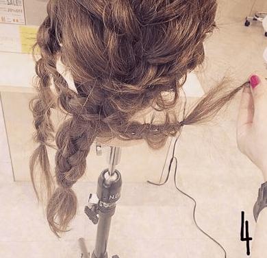振袖にぴったり☆編み込みヘア4