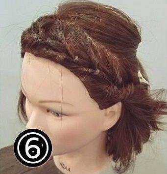 くるりんぱで出来る簡単可愛い前髪アレンジ6