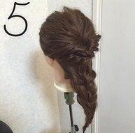 くるりんぱ×三つ編みでかわいいダウンスタイル♡5